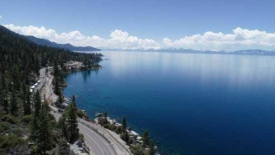 State Route 28 and a new bike path from Incline Village to Sand Harbor flank Lake Tahoe's east shore on Tuesday, June 4.