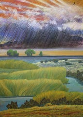 Jack Malotte, Great Basin Marsh, 2003 Collection of the Nevada State Museum.