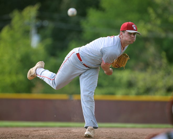 Canandaigua graduate Tanner Cooper, shown in a 2017 game against Brighton, was selected by the Cincinnati Reds in the 35th round of the Major League Baseball draft on Thursday.