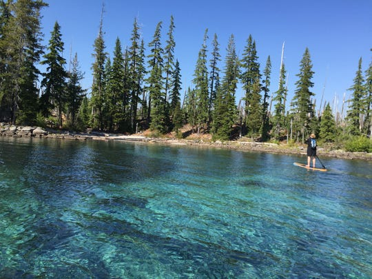Waldo Lake is a great place to flat water paddle.