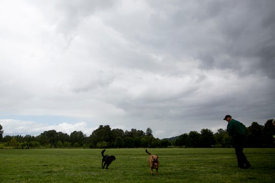 Clouds roll in over Minto-Brown Island Park in Salem on June 6, 2019.