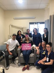 Emily Valverde finished her last chemotherapy treatment on May 15, the eighth anniversary of her marriage with Salinas firefighter Mario Valverde.