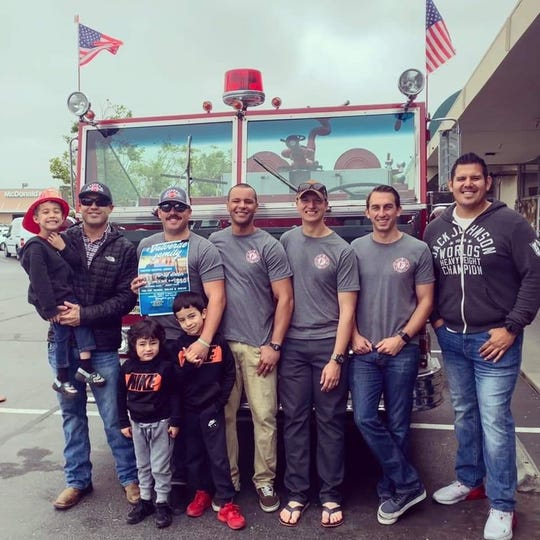 Salinas firefighters held a June 1 ticket sale for an upcoming barbecue fundraiser to help the Valverde family battle cancer.