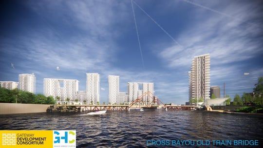 digital rendering of Cross Bayou project