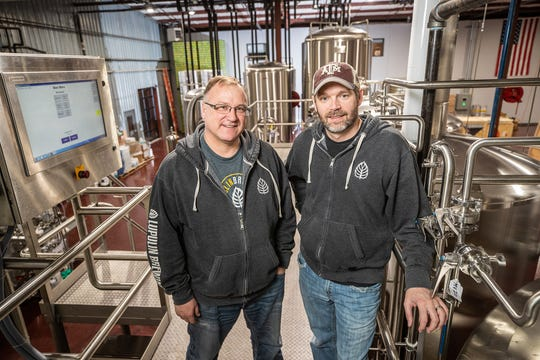 Jeff Zierdt and Matt Schiller, co-founders of Lupulin Brewing Co. in Big Lake, Minnesota.