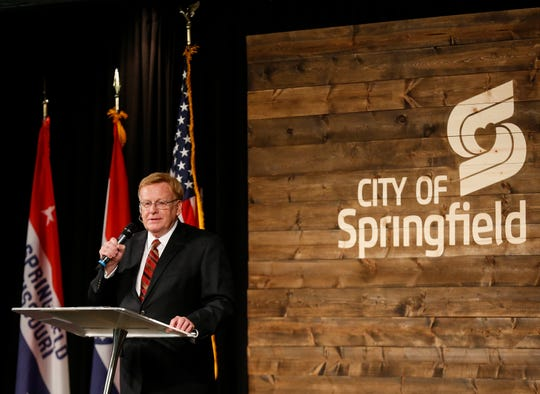 Springfield Mayor Ken McClure delivers the State of the City address at Evangel University on Thursday, June 6, 2019.