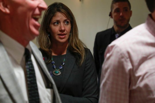 Dan Markel's ex-wife Wendi Adelson will be subject to questioning by the attorneys of a woman accused of killing the Florida State law professor after a Leon Circuit judge reversed course on his own order. In this photo she attends a memorial service for former Florida State University President Sandy D'Alemberte at Ruby Diamond Concert Hall last week.