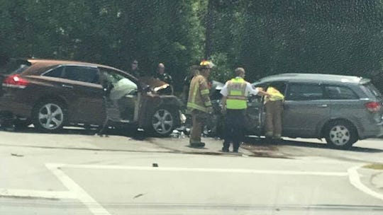 At least two people were injured in a head-on crash on 43rd Avenue near Second Street Thursday, Fire Rescue officials said.