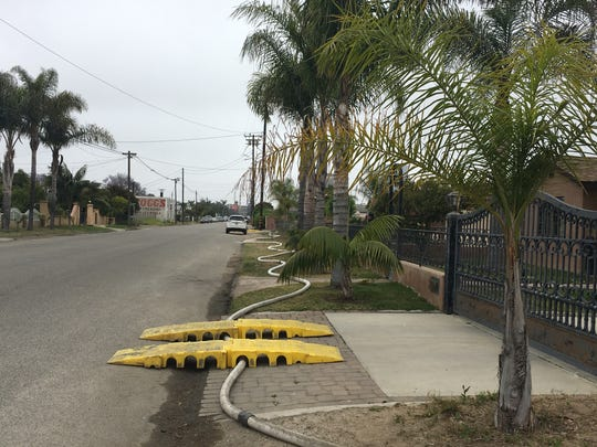 An El Rio mutual water company has emergency hookups with two neighboring water systems. Hoses were used to connect the systems.