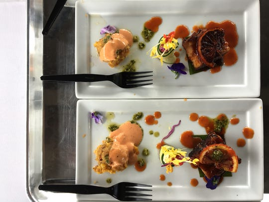 "Mashed fried plantain cakes and pork belly with blood orange-quince glaze were part of the Yummie Top Chef Culinary Competition entry by Alex Castillo, executive chef at Twenty88 Bistro in Camarillo. The combination took third place in the ""savory"" category."