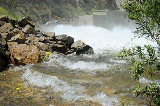 United Water Conservation District is releasing 180,000 gallons per minute at the Santa Felicia Dam at Lake Piru. This is expected to be one of the largest releases in years and is being done now because the Santa Clara River and its creeks are saturated by a rainy winter and spring.