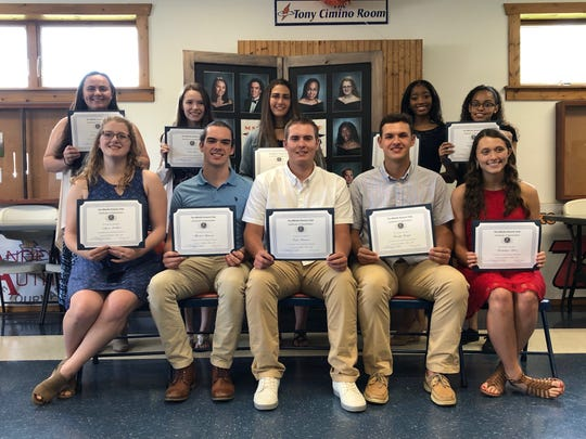 Millville Senior High School's Top 10 students were recognized June 6 at the city's Kiwanis meeting.