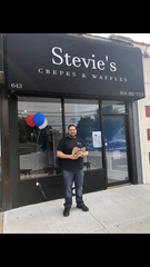 Steve Hasou, the owner behind the new Stevie's Crepes & Waffles.