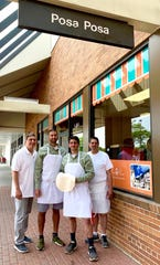 The family behind Posa Posa in Nanuet: left to right: Owners John Mandara with son, Marc; Michael Aiello with father Steven.