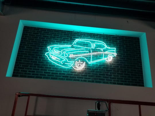 A neon sign like this one will be featured at Goober's Garage, which will be next to the new Goober's Diner coming soon to Wilmington.