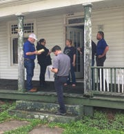 Representatives from FEMA, Ohio Emergency Management, local EMA director and the Small Business Administration went door-to-door Thursday speaking with Roseville residents who reported damage after last week's tornado.