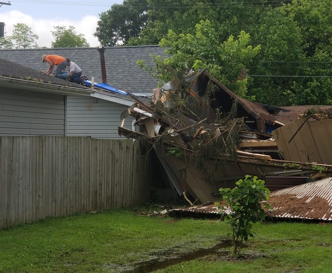 Roseville residents continue to recover from an EF-1 tornado that ripped through the village last week. Several contractors and homeowners are still cleaning up debris and repairing structural damage.