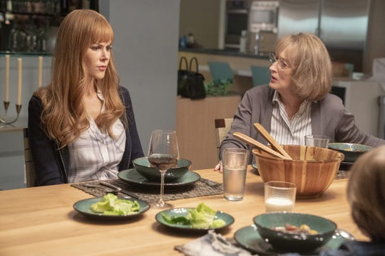 Perry's mom Mary Louise (Meryl Streep, right) shakes things up for Celeste (Nicole Kidman) when she moves in and demands answers.