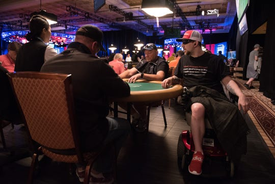 Kevin Roster is playing in the World Series of Poker in Las Vegas while trying to raise awareness about sarcoma and options in dying.