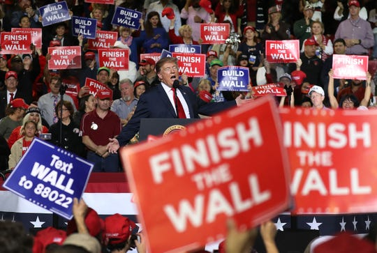 U.S. President Donald Trump speaks during a rally at the  El Paso County Coliseum on February 11, 2019 in El Paso, Texas.