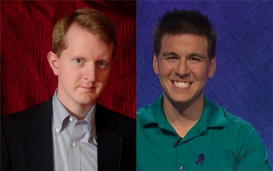 """Two """"Jeopardy!"""" record-holders: Ken Jennings, left, and James Holzhauer"""
