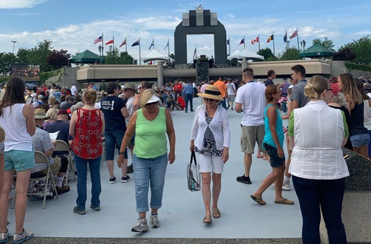 The Bedford, Va., National D-Day Memorial drew thousands for the 75th anniversary on June 6, 2019.