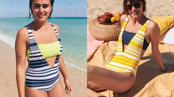 We cannot get enough of this stunning, fun-and-flirty swimsuit.