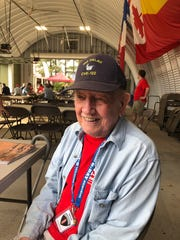 "Paul Coleman, a Korean War veteran who served in the Navy, was in Bedford, Va., for the 75th anniversary of D-Day.  ""There's not that many (D-Day veterans) left,"" Coleman said. ""This will be the last one."""