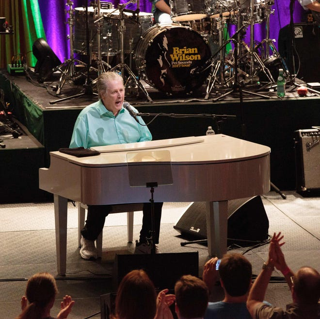 Brian Wilson, co-founder of the Beach Boys, performs on the  Pet Sounds: The Final Performances Tour at ACL Live on May 13, 2017 in Austin, Texas.