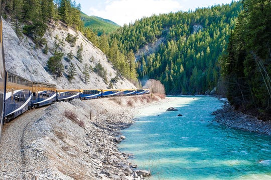 The scenery changes around every turn onboard Rocky Mountaineer.
