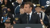 """During the D-Day 75th anniversary ceremony, French President Emmanuel Macron said """"we know what we owe"""" to World War II veterans."""