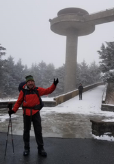 Roger Hoden at Clingmans Dome in Tennessee, the highest point along the Appalachian Trail at 6,600 feet.