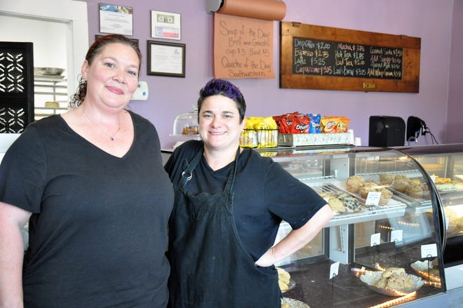 Misty Lowe, left, and Mandi Sims moved from Austin to Abilene to be closer to family and open Sweet Thyme Kitchen in a historic house at  at 1246 N. Sixth St. They are pictured on May 17, 2019.