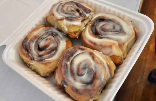 Cinnamon rolls at Sweet Thyme Kitchen.