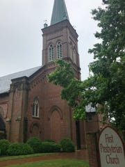 The oldest part of First Presbyterian Church on Church Street in downtown Asheville dates to 1888. The church is located close to the city's main fire station.