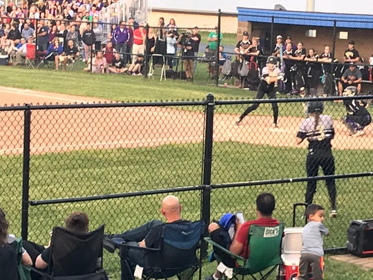 Corning's Atalyia Rijo steps in the box in the first inning of Thursday's Class AA first-round state playoff game against Warwick at Middletown High. Rijo went 3-for-4 to help the Hawks to a 6-4 victory.