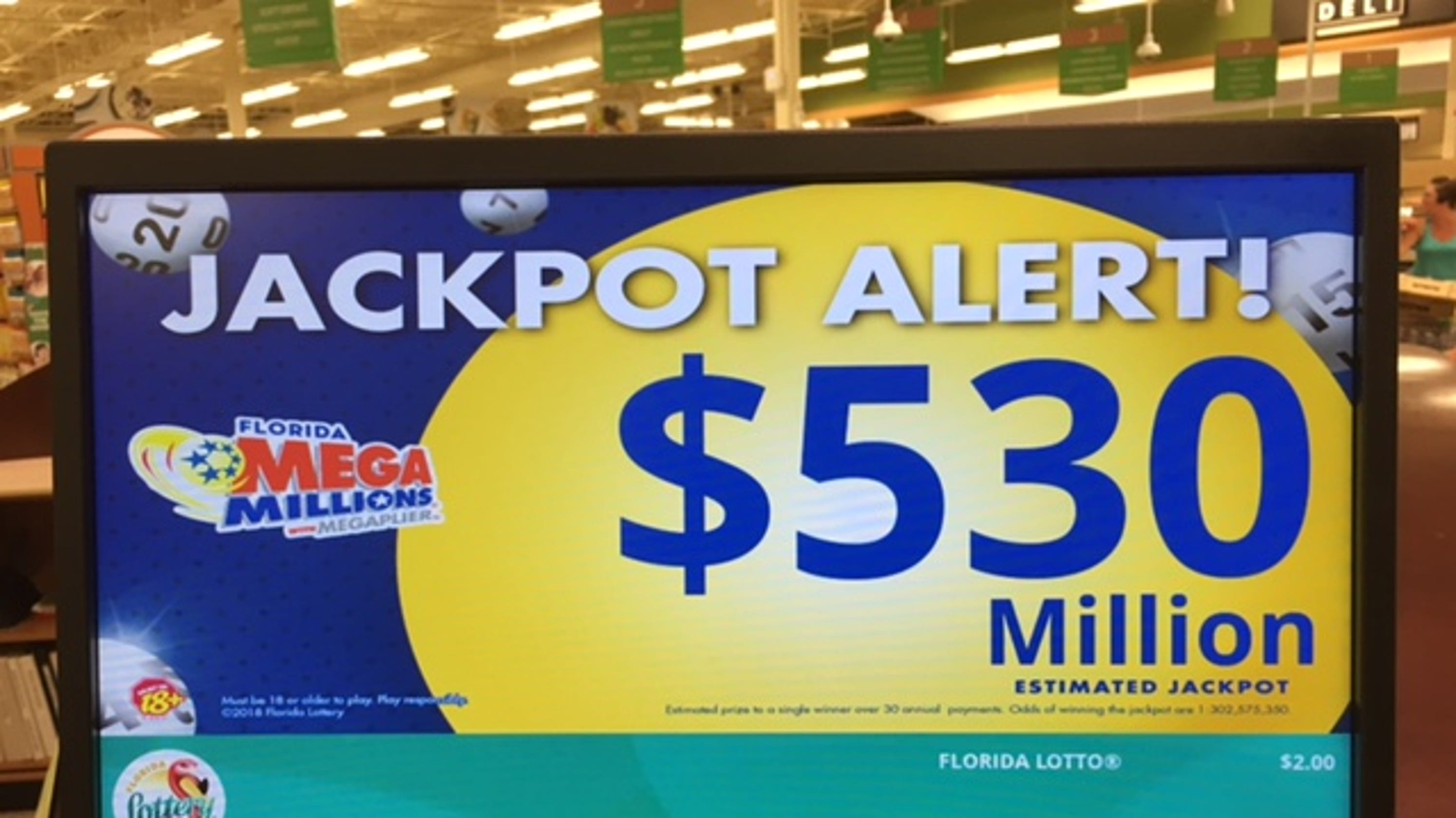 Mega Millions $530M jackpot: One giant winner in San Diego
