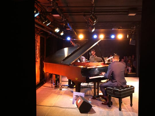 The Christian Sands Trio performs the first of two sets at FlynnSpace on June 6, 2019 as part of the Burlington Discover Jazz Festival.