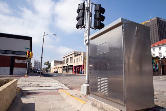 The Downtown Management District is seeking artists to paint murals on six electrical boxes along Mesquite Street.