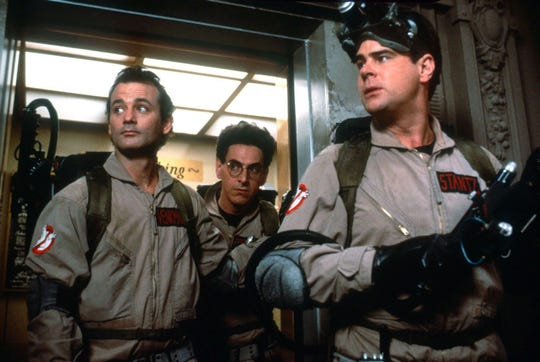 """Ghostbusters"" stars, from left, Bill Murray, Harold Ramis and Dan Aykroyd."