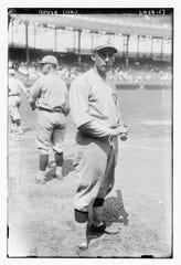 Edd Roush, centerfield, Cincinnati Reds.