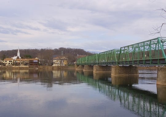 A view of the New Hope-Lambertville Bridge.