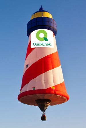 The QuickChek Flighthouse balloon is representation for this year's magic of ballooning at QuickChek New Jersey Festival of Ballooning, taking place Friday, July 26, through Sunday, July 28, at Solberg Airport in Readington.