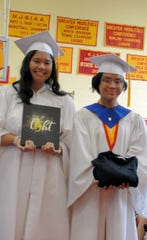 Mother Seton Regional High School 2019 Commencement. (Left to right) Maria Del Rosario, and Christine Carvajal.