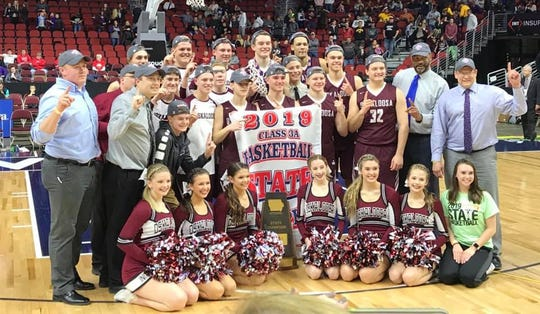 In 2019, The Oskaloosa boys' basketball team won a state championship for the first time in school history
