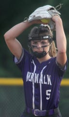 Norwalk sophomore pitcher Haley Downe pitches to Boone.