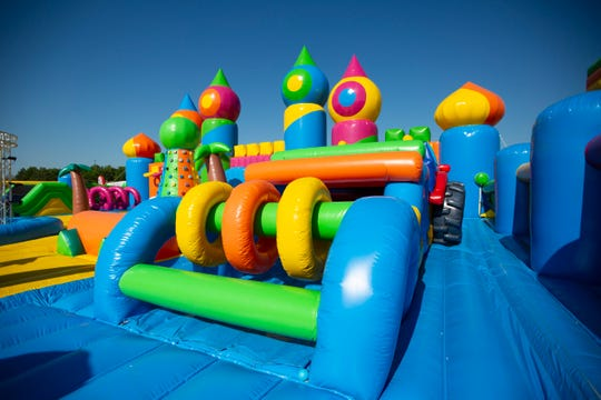 The world's biggest bounce house, part of the Big Bounce America tour, is coming to Des Moines' Southridge Mall the weekend of June 7-9, 2019. The event also features a 900-foot-long obstacle course and a space-themed house.