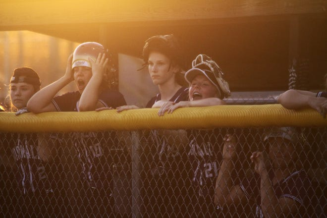 The Norwalk bench turns to rally caps late in the game. Norwalk scored a run in the sixth inning and another in the seventh to win 2-1 at home over Boone on June 6,2019.
