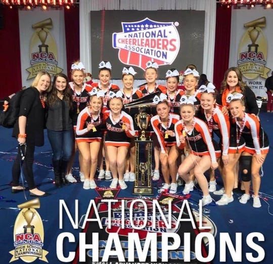 The Valley competition cheerleading team won a national championship in 2019.