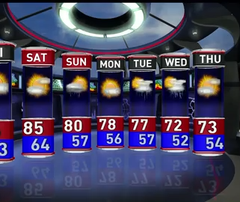The latest WHO-HD forecast video: Mostly sunny this weekend with highs in 80s